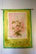 art textile mode fleurs leger decoratif : la saponaire