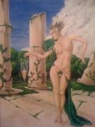 tableau nus femme nu debout fantaisie : La reine paon