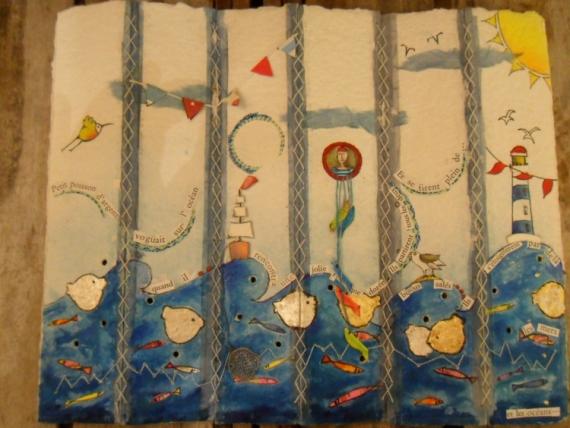 AUTRES poisson or livre artiste Marine  - petit poisson d'or