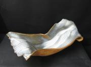 ceramique verre autres bleu de titane gres ocre coupe tournee : coupe plissée