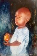 tableau personnages enfant afrique portrait marche : Enfant Afrique du Sud