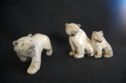ceramique verre animaux raku ceramique poterie animaux : ours  blanc