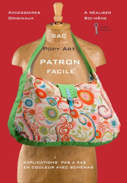 ART TEXTILE, MODE sac chic patron pop  - sac Popy Art