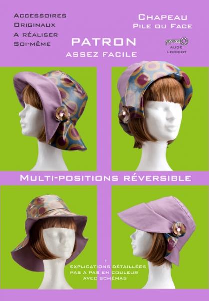 ART TEXTILE, MODE chapeau patron  - chapeau pile ou face