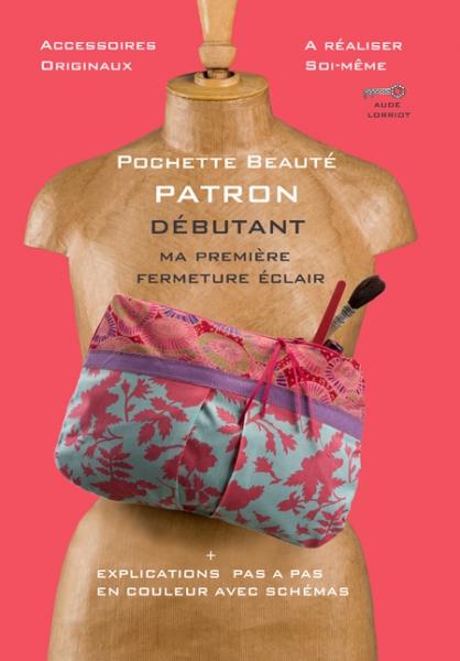 ART TEXTILE, MODE pochette sac patron soir Fleurs  - pochette beaute