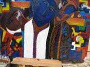 tableau personnages maroc essaouira desert extraterrestes : les hommes bleu