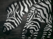tableau animaux animaux afrique : zébre