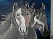 tableau animaux chevaux : couple de chevaux