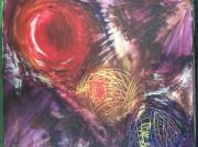 tableau abstrait planete galaxie univers profondeur : planètes