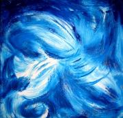 tableau abstrait marine bateau tempete ciel : tourbillon
