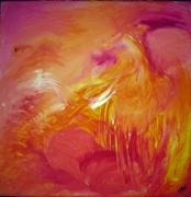tableau abstrait soleil sud chaleur volcan : le sud