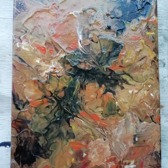 TABLEAU PEINTURE Abstrait Abstrait Acrylique  - Abstrait