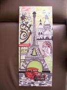 tableau villes tour eifel gargouille sacre coeur paris : PARIS