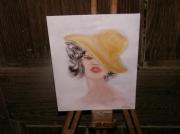 tableau : le chapeau jaune