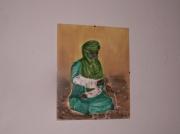 tableau : séance de thé dans le desert