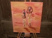 tableau : 2 africianes dans le desert