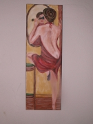 tableau : la femme au miroir