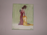 tableau : la femme et les chiens
