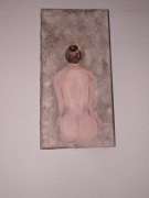 tableau : nu de dos sur marbre
