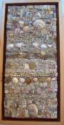 tableau abstrait coquillages camailleux de beige naturel mosaique : Rivages