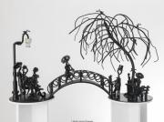 sculpture paysages amoureux pont musique arbre : Le pont des amoureux