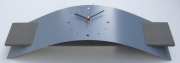 deco design autres horloge pendule design aluminium : Horloge Pendule Design NEPTUNE Bleu Lavande