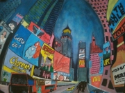 tableau paysages new york usa times square : New York