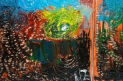 tableau abstrait abstrait vif : Vertige