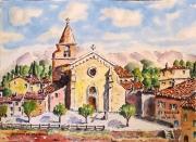 tableau architecture : L'église d'Aubagne en Provence N°:04 SZ 04