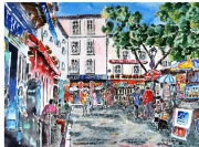 tableau villes paris pigalle : Montmartre 08 TZ 07