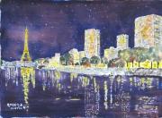 tableau villes paris nuit : Paris nocturne N° : 03 QT 01