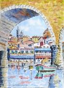 tableau marine : Le Vallon des Auffes à Marseille .