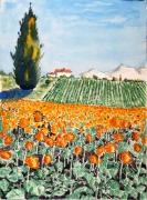 tableau paysages : Les soleils de Provence N° : 02 QT 03