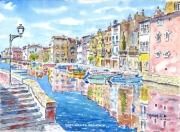 tableau marine bateau : Martigues la Venise Provençale 12 DZ 02