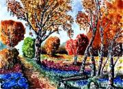 tableau paysages foret nature bois : Sous bois 08 TZ 05