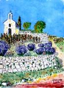 tableau paysages : Chapelle St Christophe à Tain l'Hermitage .