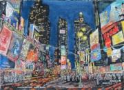 tableau villes : Manhattan en nocturne