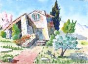 tableau paysages paysages : Le gîte du Lubéron 02 TZ 02