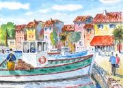 tableau marine bateau : Le bateau de César 10 DZ 03