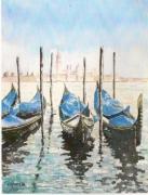 tableau paysages : Gondoles à Venise