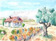 tableau : La Ste-Victoire peinte de Pourrières