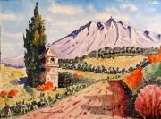 tableau paysages : Montagne Sainte Victoire en Provence N°: 05 SZ 08