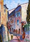tableau villes : villecroze en Provence: la rue montante