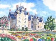 tableau architecture : Le château du Roy René de Baugé en Anjou .