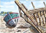 tableau marine bateau : Le désespoir du pêcheur 09 DZ 02