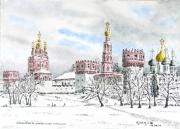 tableau villes : Le Monastère de Novodevitchiy à Moscou