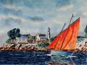 tableau marine : Le Golfe du Morbihan