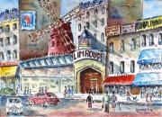 tableau villes paris montmartre spectacles : Moulin Rouge  08 TZ 04