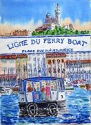 tableau marine : Le Ferry-boat du Vieux-Port 04TZ03