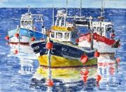 tableau marine marine navires b : Les 3 chalutiers